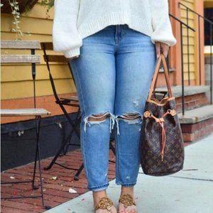 NWT AE Hi-Rise Jegging Distressed Denim Jeans - 24